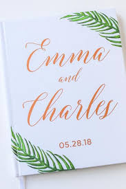 personalized wedding guest book custom wedding guest books paper wit