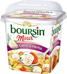 boursin cuisine light boursin minis with garlic herbs 120g compare prices buy