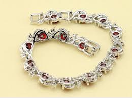 garnet bracelet silver images January birthstone adjustable garnet bracelet gt gt silver gold png