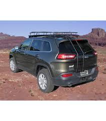 light blue jeep jeep cherokee kl ranger rack multi light setup no sunroof