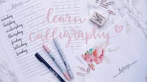 calligraphy writing paper learn calligraphy brush lettering for your bullet journal learn calligraphy brush lettering for your bullet journal tutorial with free practice sheets youtube