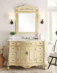 42 Inch Bathroom Vanity With Top by Inch Cream Bathroom Vanity With Crystal White Marble Top 42