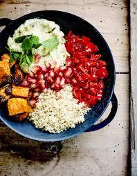 patate douce cuisine buddha bowl patate douce poivron aigre doux et quinoa pour 4