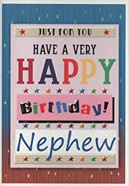 nephew birthday card happy birthday nephew amazon co uk office