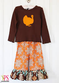 Thanksgiving Dress Baby Thanksgiving Ruffled T Shirt