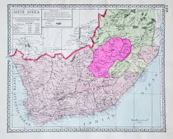 Map Of South Africa by Map Of South Africa 1914