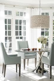 Heather Garrett Design Dining Rooms Meri Drum Chandelier - Sunroom dining room