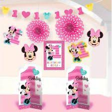 minnie mouse 1st birthday american greetings minnie mouse 1st birthday room decorating kit