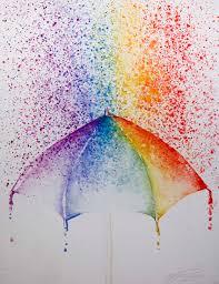 color rain rainbow purple orange red violet blue yellow green