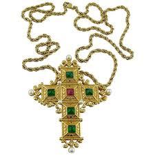 vintage cross necklace images Christian dior vintage bejeweled cross pendant necklace brooch for jpg