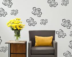 Daisy Room Decor Flower Wall Decals Daisy Wall Decal Floral Wall Decals