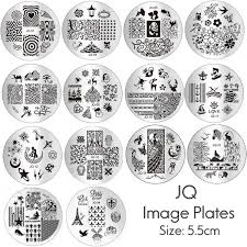 jq image plates for nail art stamping stencil metal tamplate