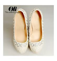 white wedding shoes for the white wedding shoes with pearls morgane sla118 lilianheels