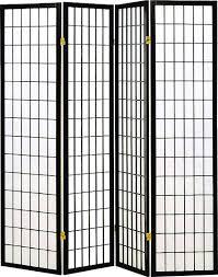 industrial room dividers amazon com coaster home furnishings oriental shoji 4 panel
