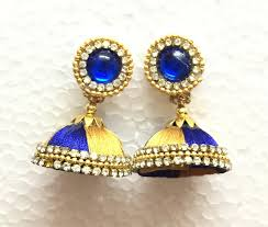 earing image learn earring stud for silk thread jhumka tutorial