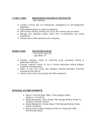 General Contractor Resume Samples by Independent Construction Contractor Resume
