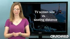 distance tv canapé tv screen size viewing distance crutchfield