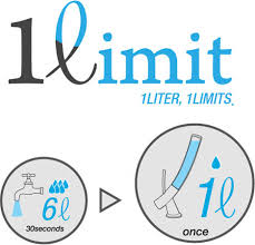 1 liter limit water saver faucet strictly rations then refills