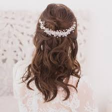 wedding hair combs wedding hair comb with floral crystals titania britten