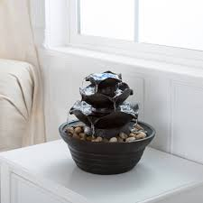 Yosemite Home Decor Fountains Home Decor Water Fountains Top Tier Tabletop Desk Indoor Rock
