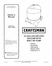 craftsman 338 17923 user manual 7 pages