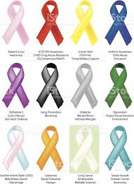 awareness ribbons 12 individually shaded stock vector more