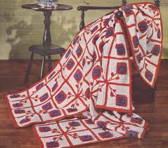 pdf afghan blanket crochet pattern flower motif design 52 x 78