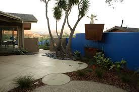 Backyard Concrete Patio Designs Concrete Patio Designs Landscape Eclectic With Drycreek Beds Front