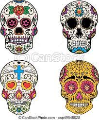 dia de los muertos sugar skulls set of sugar skulls isolated on white background day of the