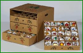Christmas Ornament Storage Boxes Cardboard by Christmas Ornament Storage Box 4 Drawer Storage Chest