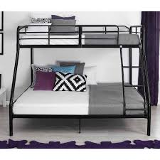 bedroom black bunk beds twin over full loft bed over full