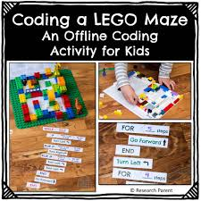 free printable lego maze coding a lego maze an offline coding activity product