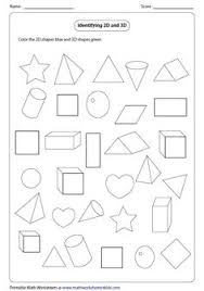 solid 3d shapes worksheets forms and shapes and desserts