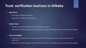 alibaba case study how to check alibaba suppliers third party verification service