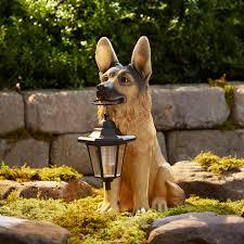 german shepherd with lanterns outdoor living outdoor decor german shepherd with lanterns outdoor living outdoor decor lawn ornaments statues