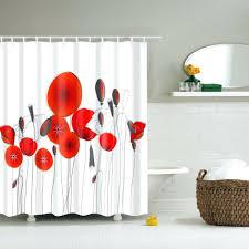 Curtains Printed Designs Lotus Shower Curtain New Design Cheap Bathroom Decorative Shower