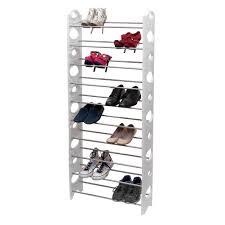 10 tier shoe rack tower closet organizer holder free standing
