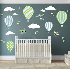 balloon decal plane wall stickers yellow stars and white zoom