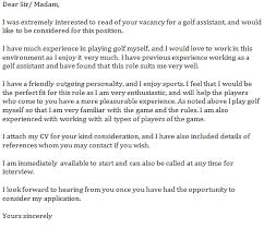 golf assistant cover letter examples learnist org