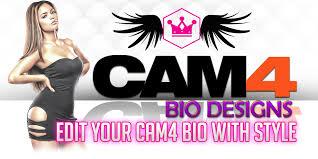 edit cam4 bio templates u2013 camgirl live editor
