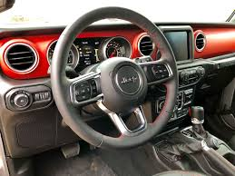 jeep steering wheel a detailed look at the 2018 jeep wrangler u0027s dashboard news top speed