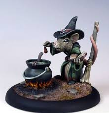 female mouse witch with cauldron 2010 halloween tribute