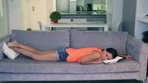 Sleeping On The Sofa Beautiful Woman Sleeping On Sofa At Home Stock Footage