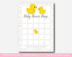 rubber ducky baby bingo game duck baby shower bingo cards bd1 02