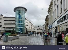 Blackburn Flags Shopping In Blackburn Lancashire Stock Photo Royalty Free Image
