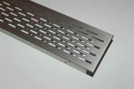 l ftungsgitter k che lüftungsgitter lochblech aluminium edelstahl optik 250x70mm ebay