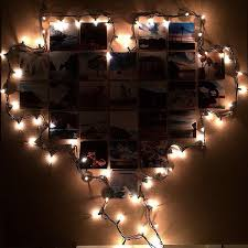 lights on wall with pictures how to make a heart photo wall with lights snapguide