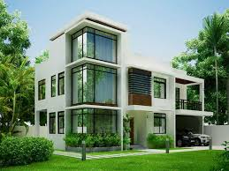 Two Storey House Design With Terrace Photo MODERN HOUSE Modern