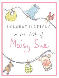 baby card personalised new baby washing line card by violet pickles