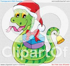 christmas jeep clip art cartoon of a cute christmas snake ringing a bell and holding a